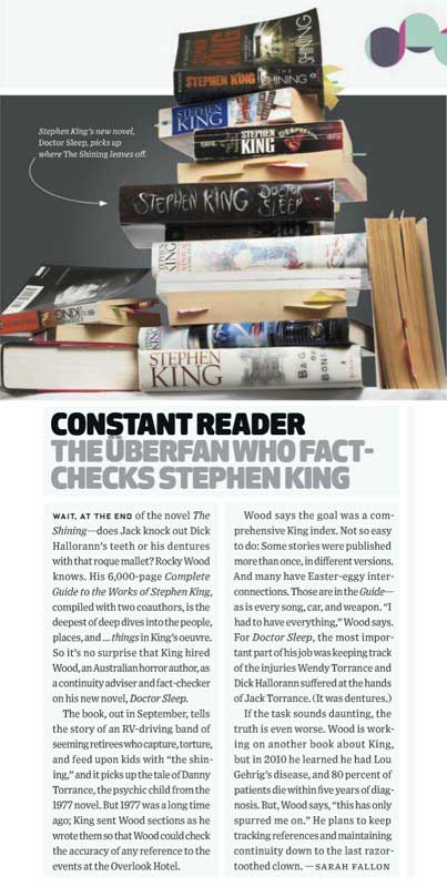 Wired's article on Rocky's connection to King's novel Doctor Sleep